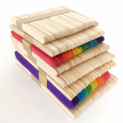 114mm plain wood craft popsicle sticks