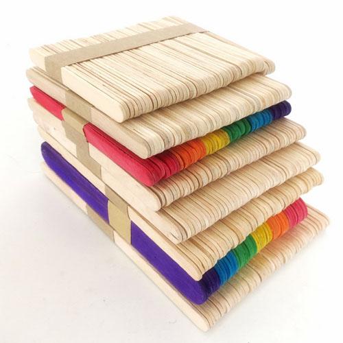 114mm plain wood craft popsicle sticks