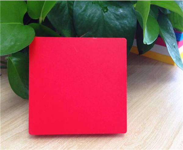 Red PVC Foam Board/Sheet for advertising sign board