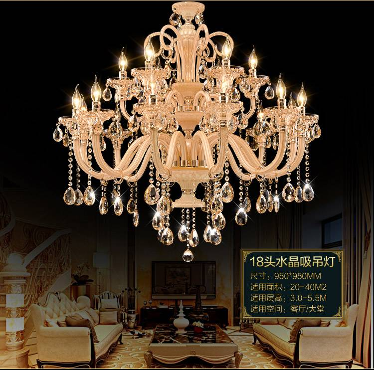 glass arm modern crystal chandelier pendant lighting