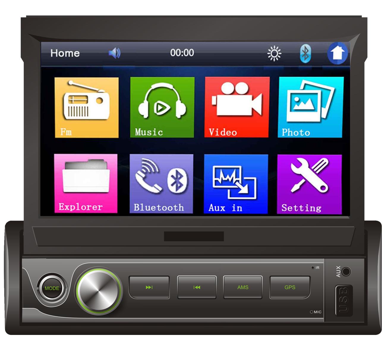 "1 Din 7"" Android Hand Indash Universal Car Navigation"