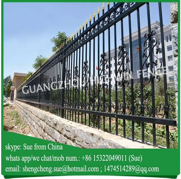 Professional fence company nice tubular steel fence grill design for Germany