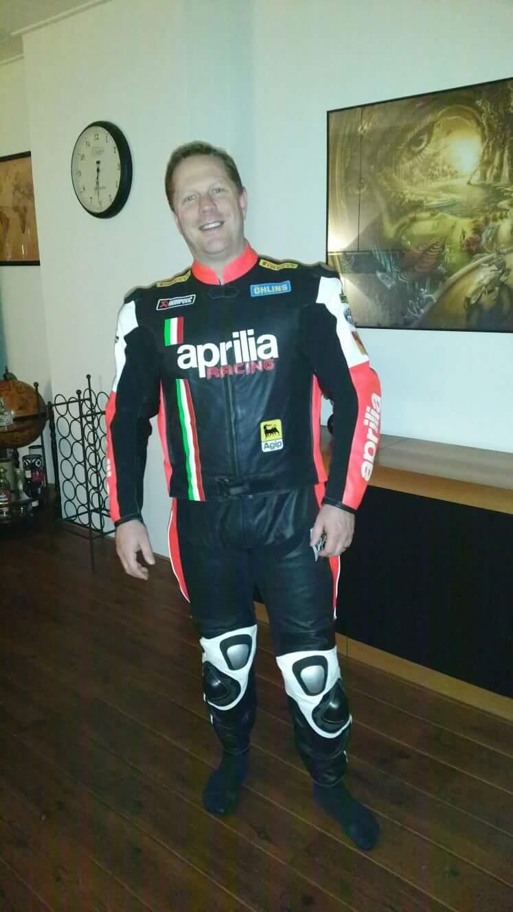 Aprilia leather suit