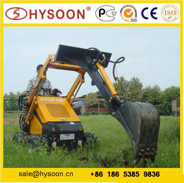 GARDEN UTILITY COMPACT LOADER WITH DIGGER