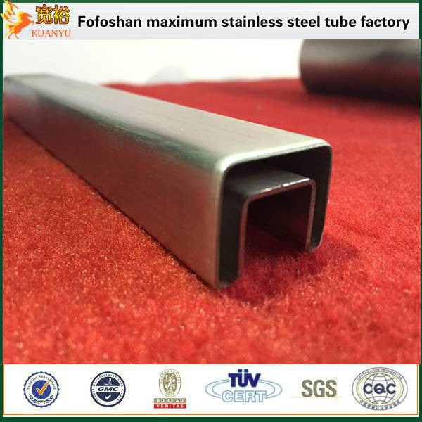 tp304l special shape stainless steel welded pipe with hairline surface for decoration