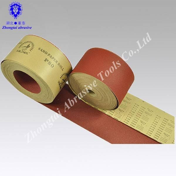Sand paper roll,C-weight kraft paper,aluminum oxide