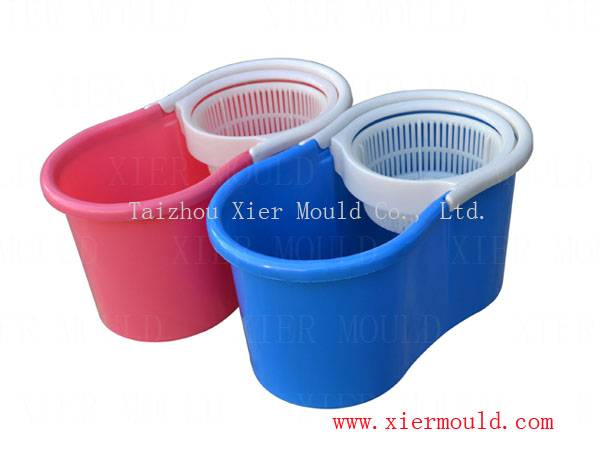 Double barrel mop bucket mould