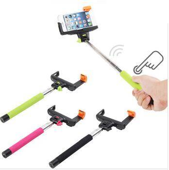 Extendable Handheld Wireless Bluetooth Shutter Selfie Monopod Stick + Holder for iPhone Samsung IOS