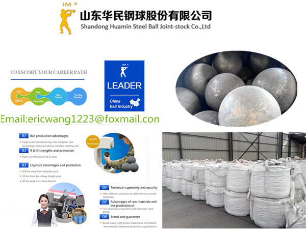 Rolling forged Grinding Steel Balls used in Ball Mills 90mm Africa