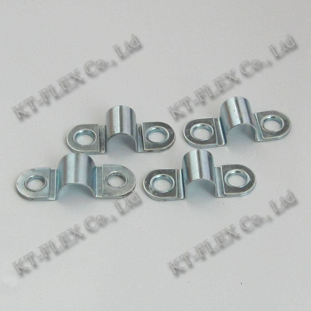 18mm zinc plated iron two hole cable clip