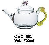 borosilicate glass clear glass tea set/Heat Resistant tea coffee set sale