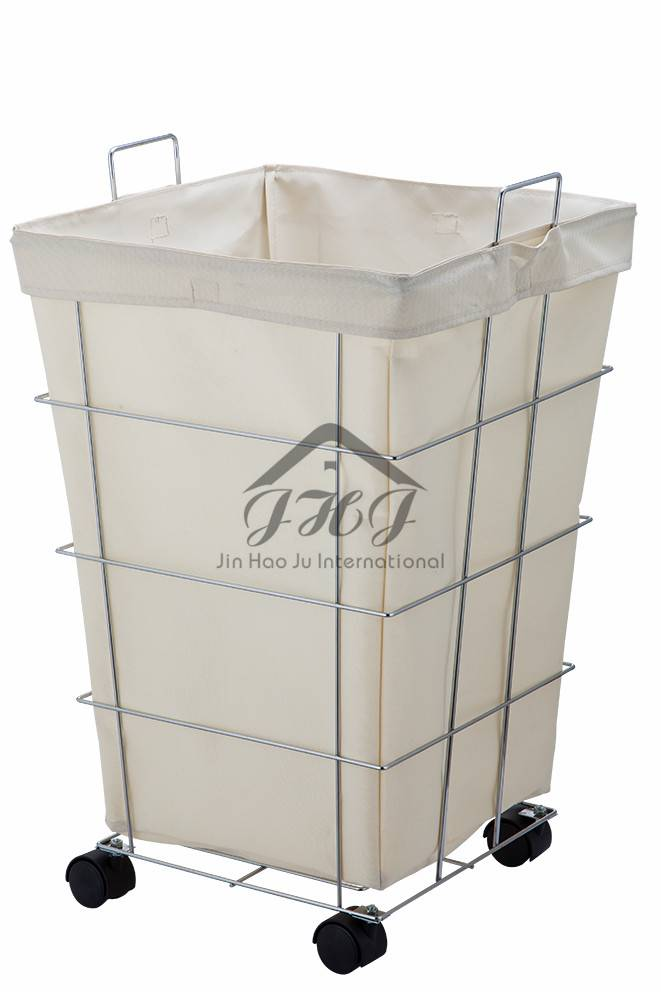 Canvas Rolling Laundry Hamper, Laundry Storage, Laundry Sorter
