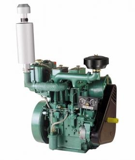 Double piston/cylinder Air cooled diesel engines