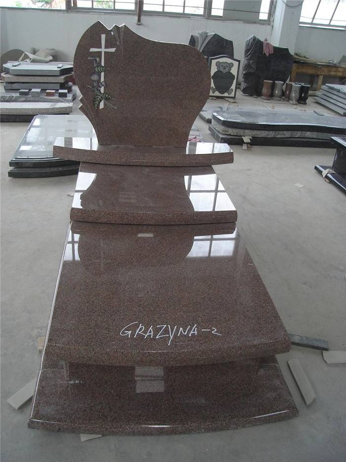 Religious monument granite tombstone with slab