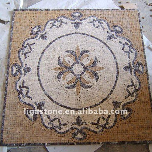 Round Marble Mosaic Floor Outdoor,Mosaic Tile