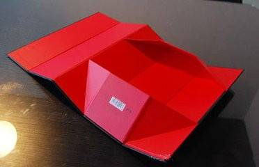 Folding red wine paper box