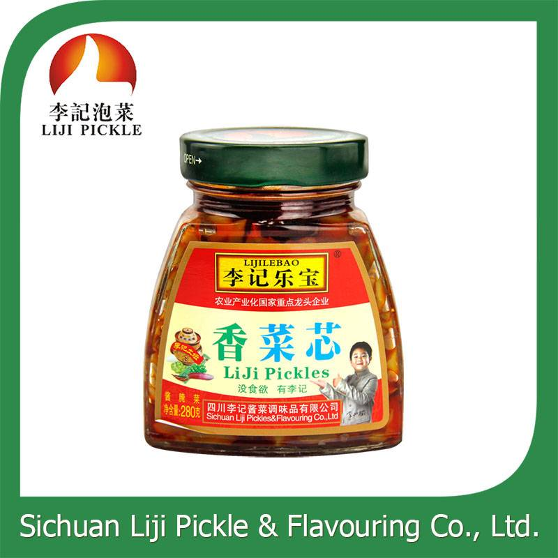 High quality green food traditional Chinese pickle with FDA,QS