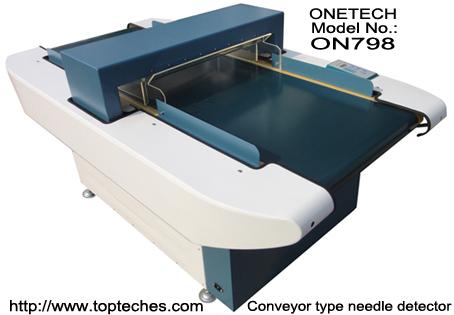 Conveyor type needle detector, belt type metal detector