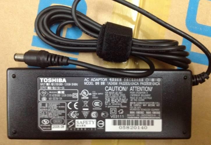Original laptop adapter for TOSHIBA 15V- 5A