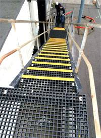 FIBERGLASS PULTRUDED PROFILES with stair trade