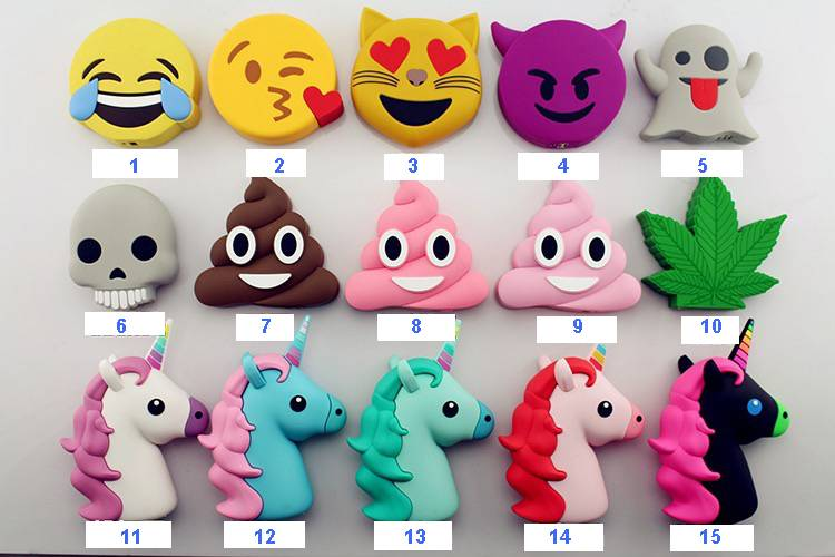 Emoji Poop mobile phone charger cartoon charger power bank