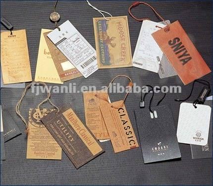 Garment paper hang tag