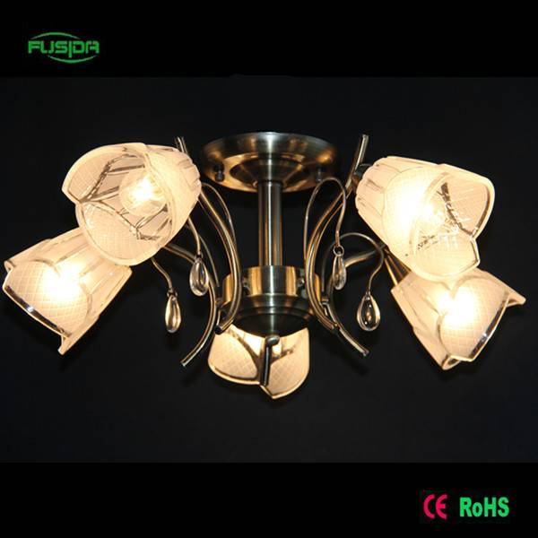 White murano chandelier glass Ceiling lighting P-8338/5