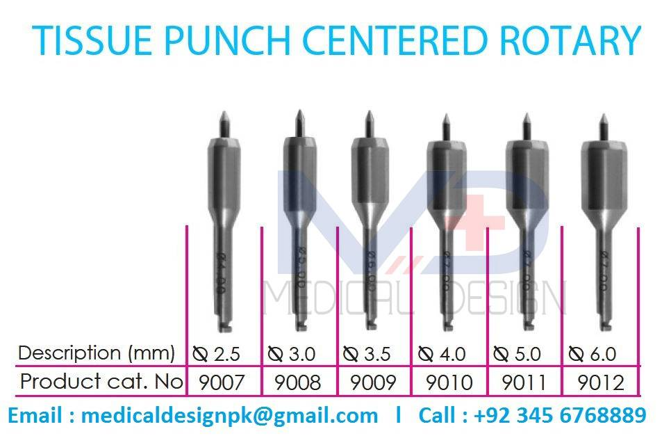Tissue punch open rotary centered rotary
