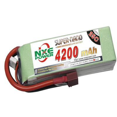 NXE4200mAh-25C-22.2V Softcase RC Helicopter Battery