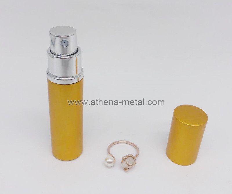 Travel spary perfume bottle 5ml with jewelry Ring decoration custom perfume bottles