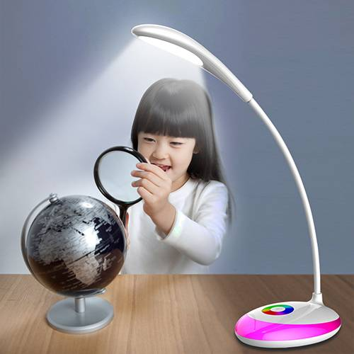LED desk lamp with magic colorful RGB