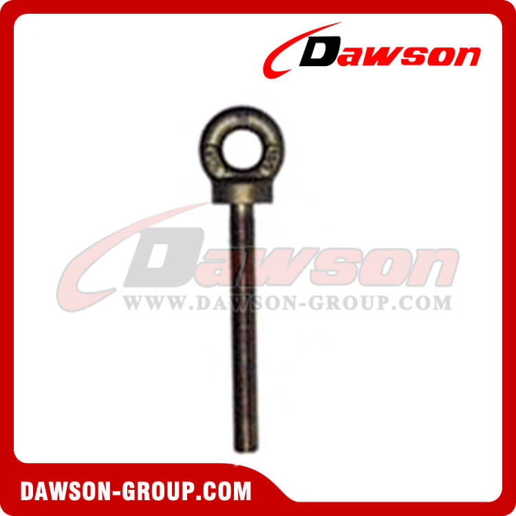 forged long shank collared eye bolts