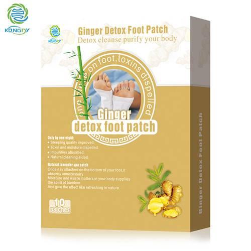 Hot Sale Bamboo Vinegar ginger Detox Foot Patch