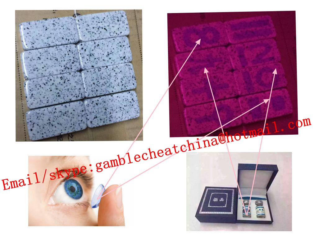 Marked domino for domino cheat/uv ink/contact lenses/marked rummy/