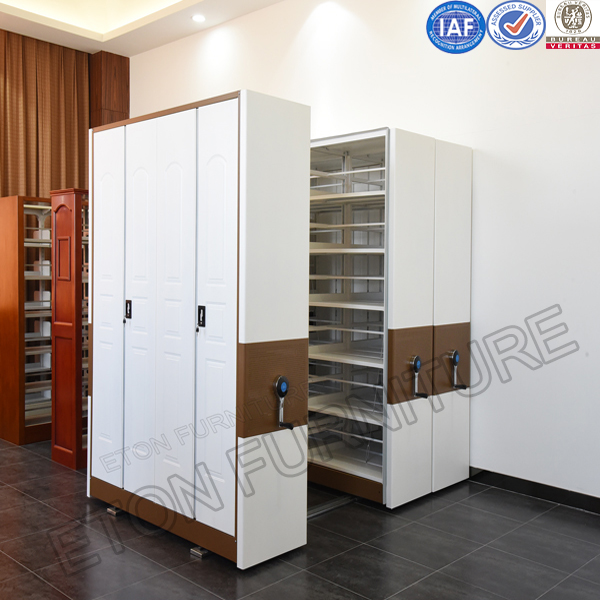 Hot Selling Library Furniture Metal Movable Filing Shelf in Cambodia