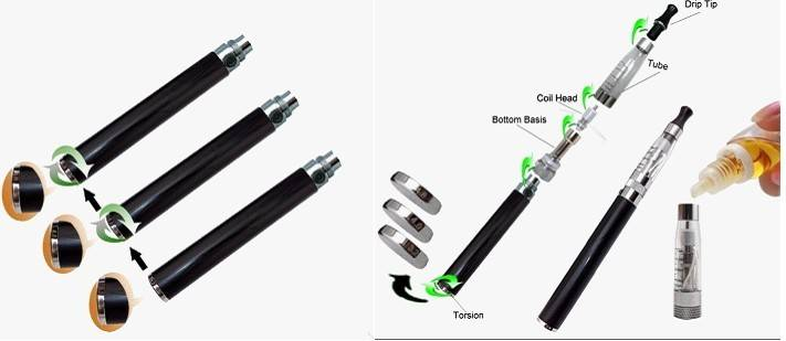 Electronic Cigarette Battery EGO Twist Voltage Adjustable