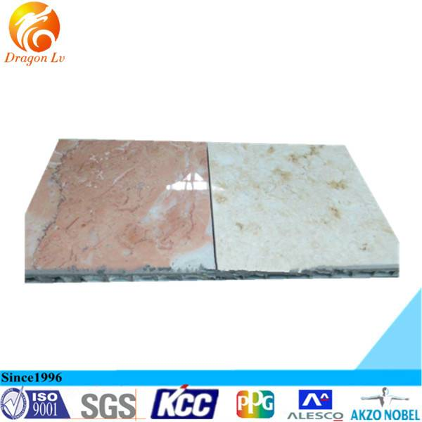 marble surface aluminum honey comb panel for building facade