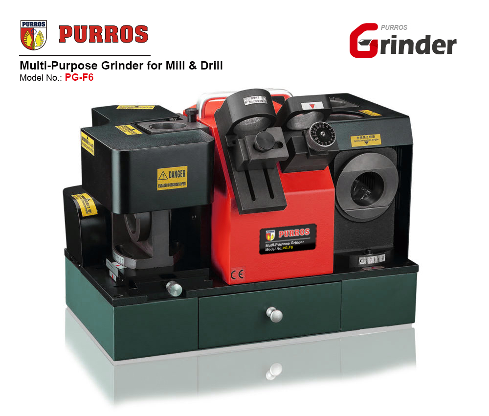 PURROS PG-F6 Multi-Purpose Grinder for Mill & Drill