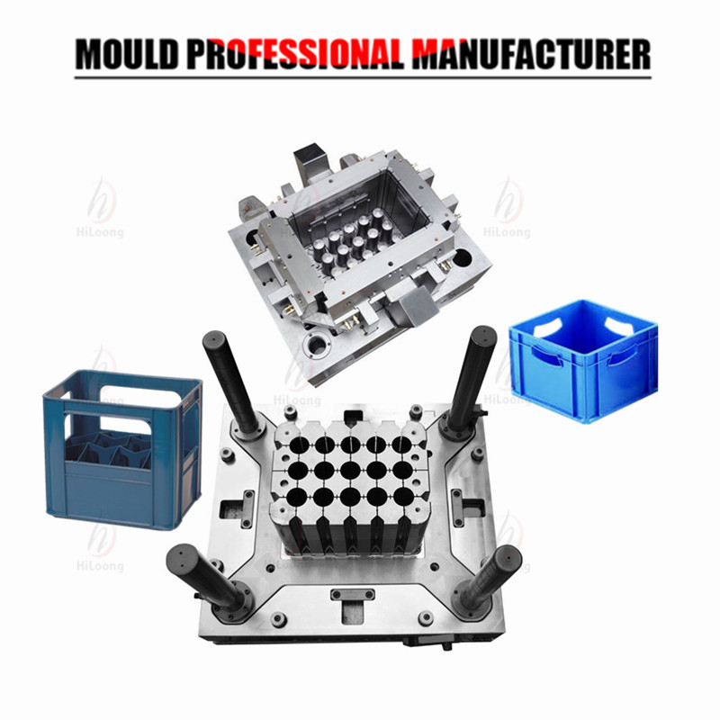 plastic injection beer crate mould made in china