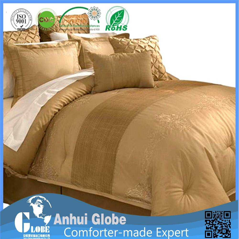 queen comforter set gold