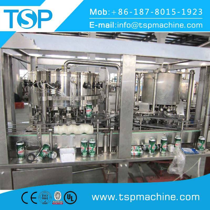 Aluminum/pet/tin/metal slim pop can filling and seaming machine 330ml 202 206 lid