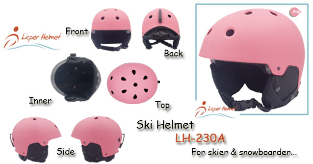 Ski Helmet LH-230A ABS printed shell helmet for skier and snowboarder safe