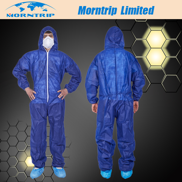 Blue Color Disposable Coverall