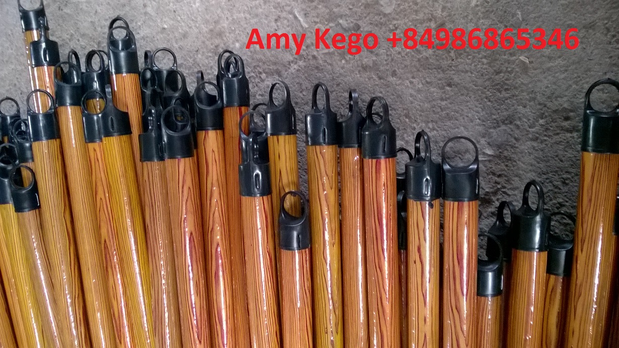 1200mm PVC Coated Wooden Broom Handle from Vietnam