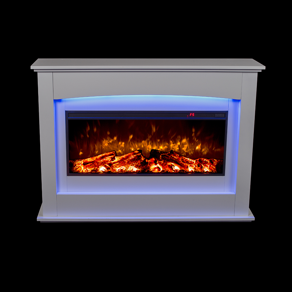 2018 Decor electric fireplace heater with mantel,led back light