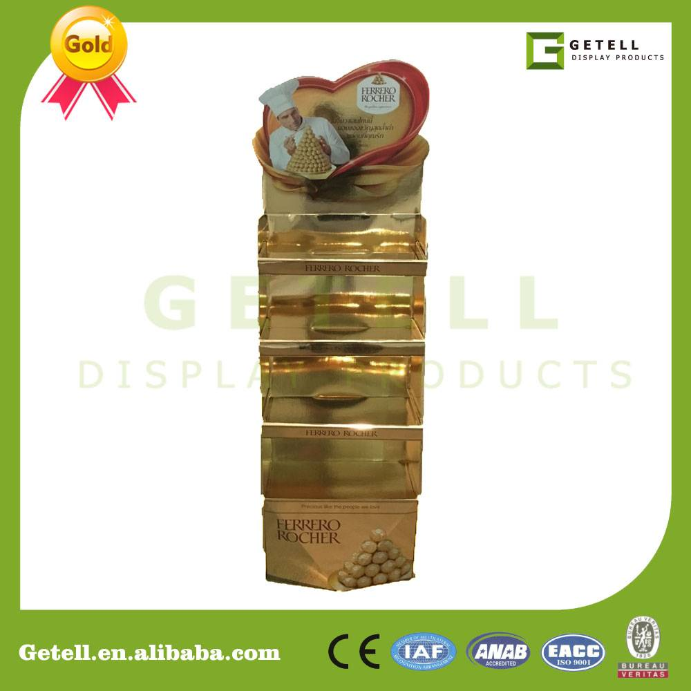 ferrero golden corrugated display stand