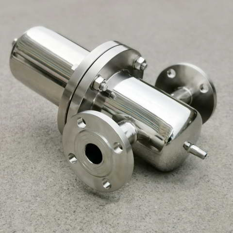 high quality food grade 5inch Flange type SS316L Stainless Steel Steam filter with 226 adaptor