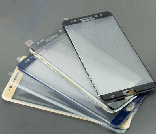 Mobile Phone Used 3D Curved Tempered Glass Screen Protector For Samsung Note 7
