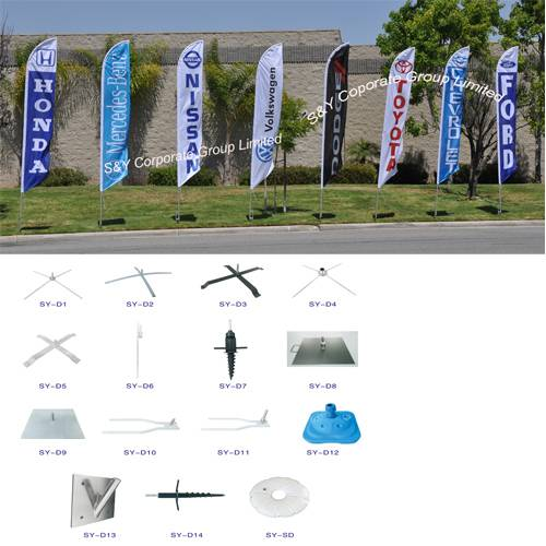 Custom hot sell outdoor shark fin flag