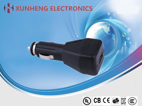 5W OEM/ODM customized design in-car charger, USB output type or power cord output type